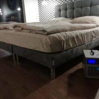 K pravidelnému ošetřování ložnice patří cílené ozonování matrací. Podle potřeby pro zvýšení koncentrace  používáme zakrývací plachty.